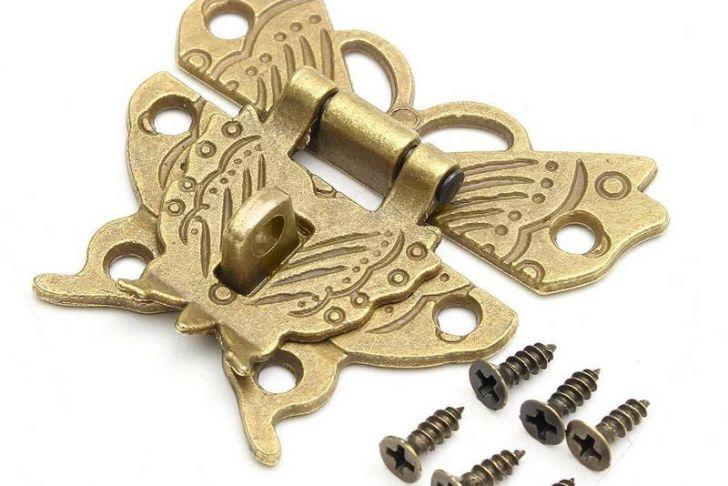 Brass Cabinet Latch Best Of Beautiful butterfly Design Antique Bronze Hasp Latch Jewelry Wooden